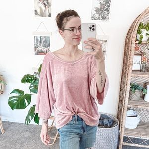 Free People Valerie Velvet Top